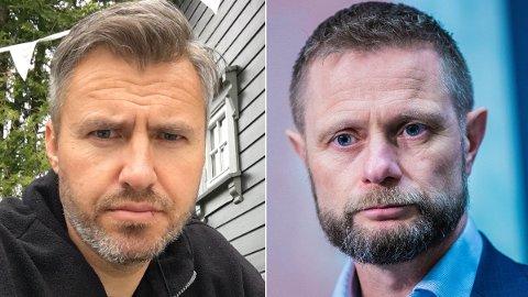 LEVEBRØDET: Sigar-gründer Håkon Aanonsen (t.v.) risikerer at levebrødet tar helt slutt etter nye regler. – Jeg er fornøyd, sier helseminister Bent Høie (H).