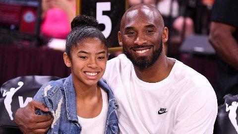 GIKK BORT: Gianna og Kobe Bryant omkom i den tragiske helikopterulykken.