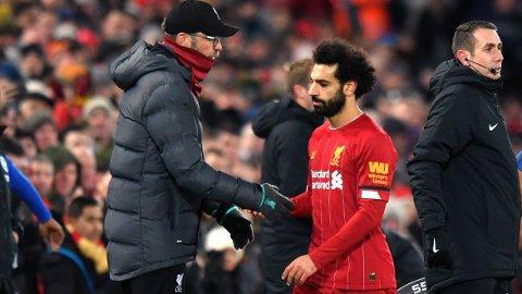 OL-AKTUELL: Mohamed Salah er ønsket i Egypts OL-tropp. Liverpool-manager Jurgen Klopp er neppe interessert på å gi slipp på sin stjernespiller.