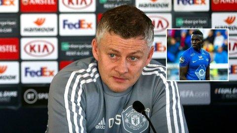 SARR-SPØRSMÅL: Ole Gunnar Solskjær fikk spørsmål om Babacar Sarr på fredagens pressekonferanse i Manchester.