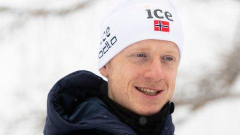 Johannes Thingnes Bø under et pressetreff i forkant av lørdagens VM-sprint.