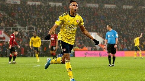 """Pierre-Emerick Aubameyang og Arsenal vinner """"alltid"""" hjemme mot Newcastle."""