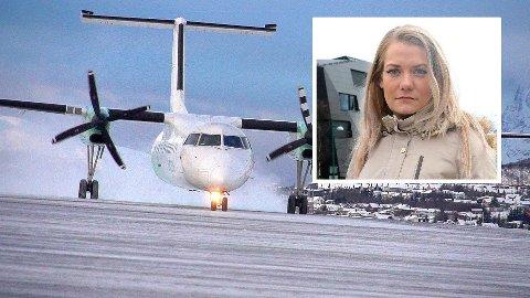 – ET HÅN MOT DISTRIKTET: Sandra Borch er ikke fornøyd med regjeringen etter dagens Widerøe-kutt.