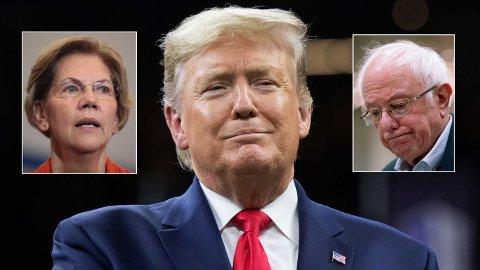 VOKSNE PRESIDENTKANDIDATER: Donald Trump er 73 år, Bernie Sanders 78 år og Elizabeth Warren 70 år. En voksen alder for en av de mest krevende jobbene på planeten.Hva skjer egentlig dersom en kandidat dør før innsettelsen? spør Simen A. Johannessen i denne kommentaren.