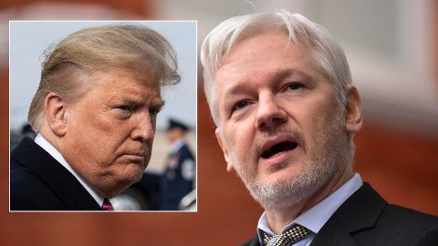 BENÅDNING: USAs president Donald Trump skal ha vært villig til å hjelpe Julian Assange, hvis han gjorde som Trump ønsket.