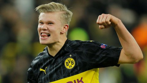 LEVERER OG LEVERER: Erling Braut Haaland scorer og scorer for Borussia Dortmund.