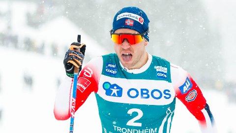 SEIERSHERRE: Pål Golberg under herrens avslutningsrenn i Ski Tour i Trondheim søndag.