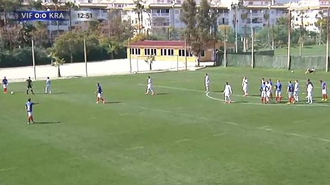 RESERVER: Både Vålerenga og russiske Krasnodar hadde sendt ut reservene sine til dagens treningskamp i Marbella.
