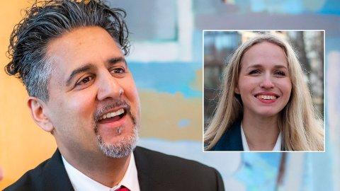 VIL BLI LEDER: Kulturminister Abid Raja (V) har også lyst til å bli ny leder i Venstre, men Unge Venstre, ved Ane Breivik (innfelt) står fortsatt på at de ønsker Sveinung Rotevatn som partiets neste leder.
