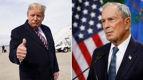 Fellesnevneren for sittende president Donald Trump og demokratenes presidentkandidat Michael Bloomberg er at de begge er steinrike og har plumpet ut med relativt kvinnefiendtlige karakteristikker.