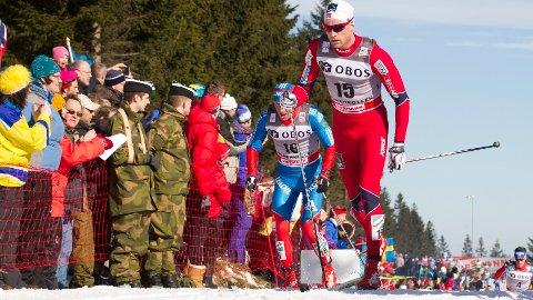 Niklas Dyrhaug under femmila i Holmenkollen.