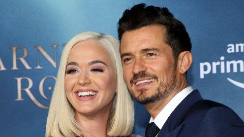 VENTER BARN: Katy Perry og Orlando Bloom venter sitt første barn sammen.