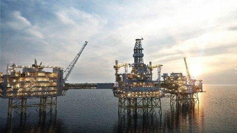 FLERTALLET VIL FORTSETTE: Et klart flertall i befolkningen ønsker å opprettholde oljenæringen, ifølge en undersøkelse fra Kantar. Bildet er fra Johan Sverdrup-feltet.