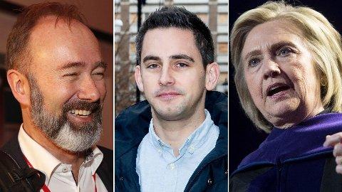 Hva har Trond Giske, George Gooding og Hillary Clinton til felles? Svar: De er alle delaktige i de mest leste menings-innleggene i Nettavisen denne uken.