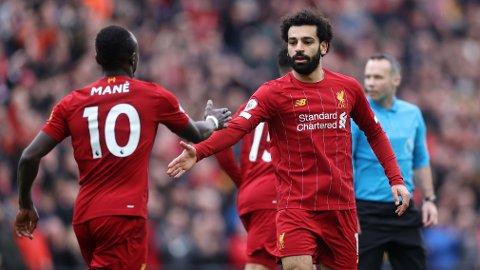 For Liverpools to angrepsstjerner,Sadio Mané og Mohamed Salah, består en intern duell om å bli ligaens toppscorer.