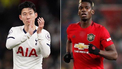 BIDRAR: Tottenham-profil Heung-min Son og Paul Pogba.