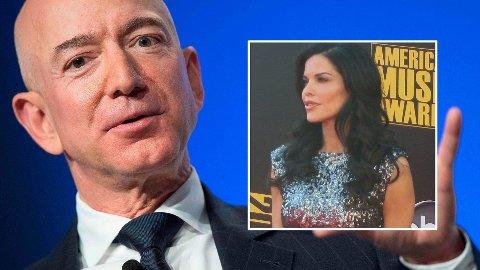 SKAPTE OVERSKRIFTER: Amazon-sjef Jeff Bezos og nyhetsanker, underholdningsjournalist og mediapersonlighet i USA, Lauren Sanchez, skapte overskrifter samme dag som Bezos skilsmisse ble kjent.