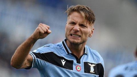 GOALGETTER: Lazio-spiss Ciro Immobile har banket inn mål i Serie A denne sesongen, og kan være på vei til Premier League.