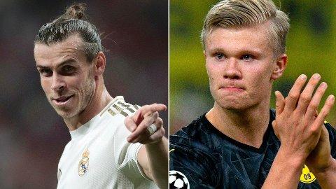 EN UT, EN INN?: AS hevder at et mulig salg av Gareth Bale kan åpne for Haaland til Madrid.