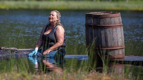 MÅTTE BRYTE: Eller å ha pådratt seg flere skader under «Farmen»-oppholdet klarte ikke sanger Anita Hegerland å fortsette og måtte dermed bryte den siste, avgjørende konkurransen.