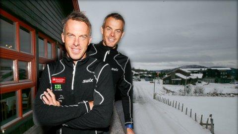 OVER 50 MIL: Anders og Jørgen Aukland gikk mildt sagt en lang skitur fra lørdag til søndag. Med seg hadde de Joar Thele.