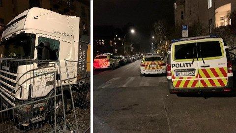 Bevæpnet politi rykket ut til en eksklusiv adresse på Frogner i Oslo forrige onsdag. En finansmann ble pågrepet etter at det kom inn meldinger om hærverk på en firmabil og våpentrusler. Mannen benekter anklagene på det sterkeste.