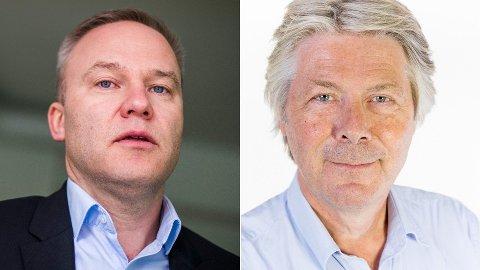 I DEBATT: Helge Lurås (t.v) og Erik Stephansen.