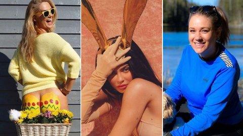 PÅSKEKOS: Kjendisene er rause med bildedelingen fra årets påskeferinge i sosiale medier.