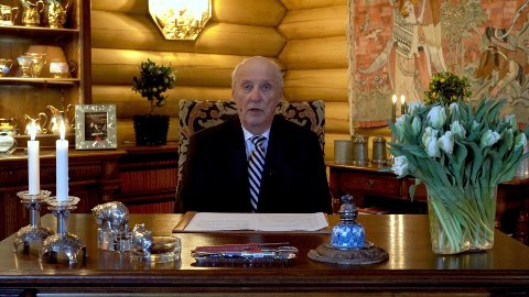 TALTE TIL FOLKET: Kong Harald holder tale 15.03.20 til folket i forbindelse koronasituasjonen.
