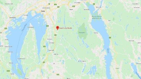 SKOGBRANN: Ved Grønmo Golfklubb i Oslo oppsto det en skogbrann på søndag.