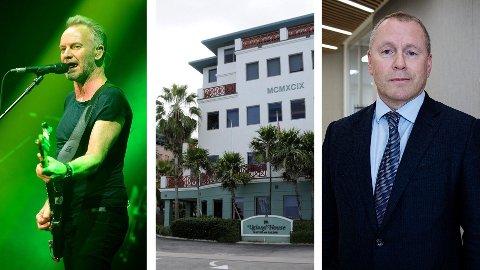 Artisten Sting, Ugland House på Cayman Island og påtroppende oljefondsjef Nicolai Tangen.