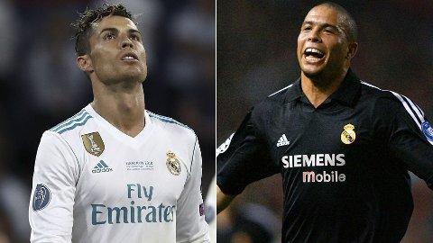 THERE CAN ONLY BE ONE: Cristiano Ronaldo og Ronaldo Fenomeno anses som to av tidenes beste angrepsspillere.