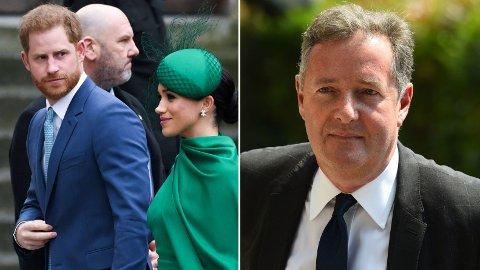 BLIR KVALM: Piers Morgan raser mot prins Harry og sier han blir kvalm av måten den britiske prinsen har oppført seg.