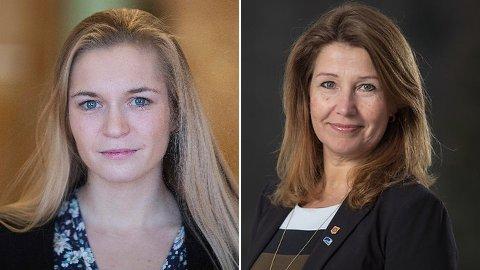 Stortingsrepresentantene Mathilde Tybring-Gjedde (t.v.) og Turid Kristiansen.