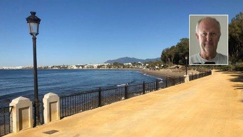 Øyvind Robert Rafto (62) har vært isolert i sin leilighet i Marbella i Spania i sju uker. De vanligvis så populære stedene er nå helt tomme.