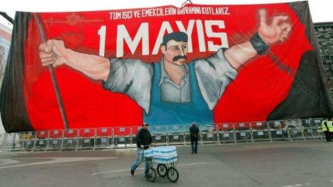 Stille før den «røde stormen» i Istanbul for noen år siden.