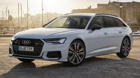 Dette er helt nye Audi A6 i ladbar utgave. Bilen får en elektrisk rekkevidde på inntil 51 kilometer, noe som gjør at den kommer gunstig gjennom det norske avgiftssystemet.