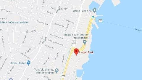 KNIVSTIKKING: En mann ble knivstukket ved Linden Park i Horten.