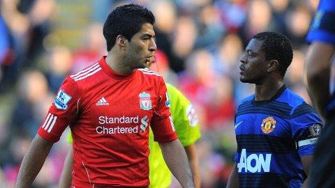 KONTROVERS: I oktober 2011 fant hendelsen sted der Luis Suárez skal ha slenge rasistiske bemerkninger i retnign Patrice Evra.