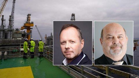 STÅLSETTER SEG: Både Safe-tillitsvalgt Owe Ingemann Waltherzøe og Industri Energi-tillitsvalgt Per Martin Labråthen håper konsernledelsen har lært av forrige oljenedtur.