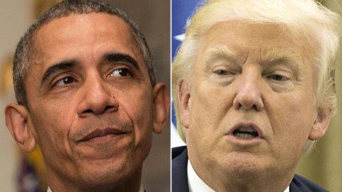 KRITISK: Tidligere president i USA, Barack Obama, er svært kritisk til etterkommeren Donald Trumps innsats under koronakrisen.