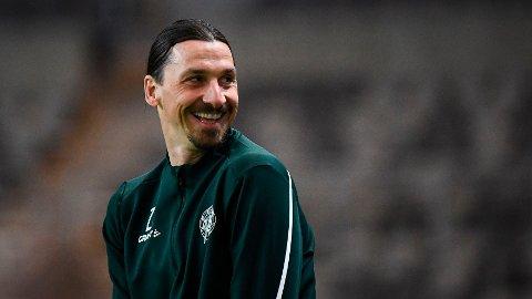 GOD STEMNING: Zlatan Ibrahimovic deltok på flere Hammarby-treninger i april.