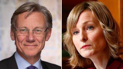 James Stove Lorentzen (H) og Inga Marte Thorkildsen (SV).