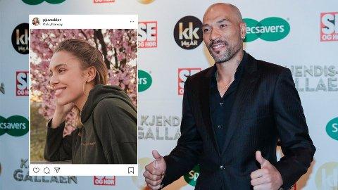 NY KJÆRESTE: Etter flere uker med spekulasjoner bekrefter John Carew forholde til den 24 år gamle modellen Pernille Juvodden.