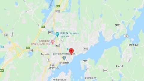 SKUTT MED LUFTVÅPEN: En person i Arendal er sendt til sykehus etter å ha blitt skutt på med et luftvåpen.