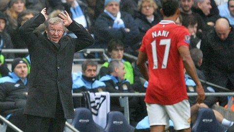 NANI OG SJEFEN: Det var ikke alltid bare ros å få fra Alex Ferguson.