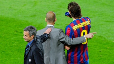Her har Jose Mourinho avlevert noen gloser til Pep Guardiola og Zlatan Ibrahimovic. Portugiseren kunne senere juble for seier.