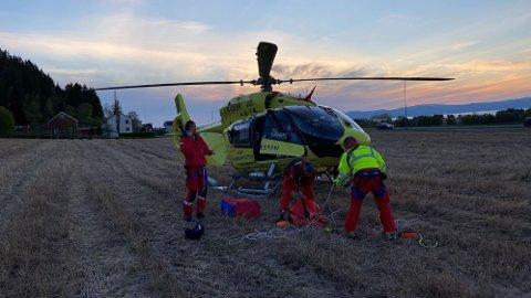 SYKKELULYKKE: En person skal være alvorlig skadet etter en sykkelulykke i Stokkåsen i Trondheim.