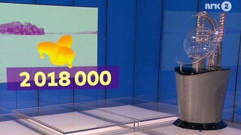 Jokeren dukket opp i onsdagens trekning. To millioner kroner venter en heldig mann fra Aurland.