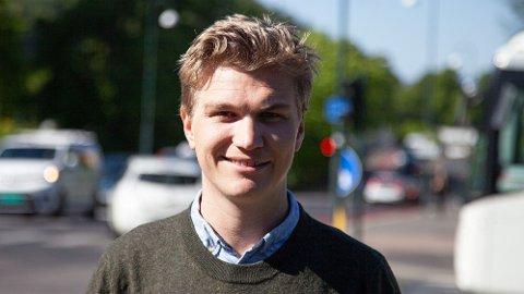 HJEMMEKONTOR: Nicolai Øyen Langfeldt i Oslo Høyre slår et slag for hjemmekontor, også etter at koronakrisen er over.